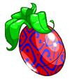 Red Swirly Negg