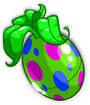 Green Polkadot Egg