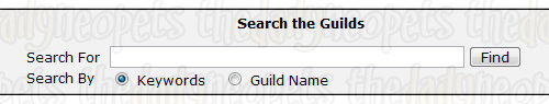 Search for guilds