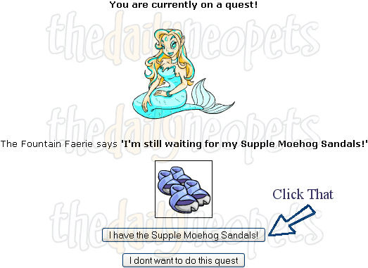 how to start faerie quest neopets
