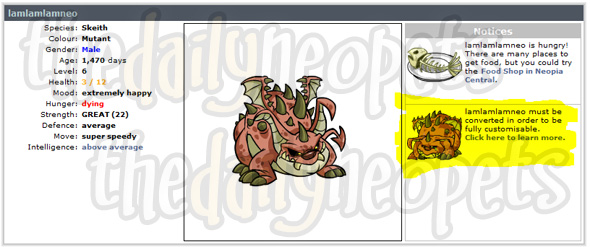 This pet can be converted!
