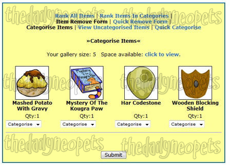 Uncategorized items