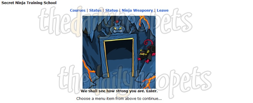 Secret Ninja Training School Entrance screenshot