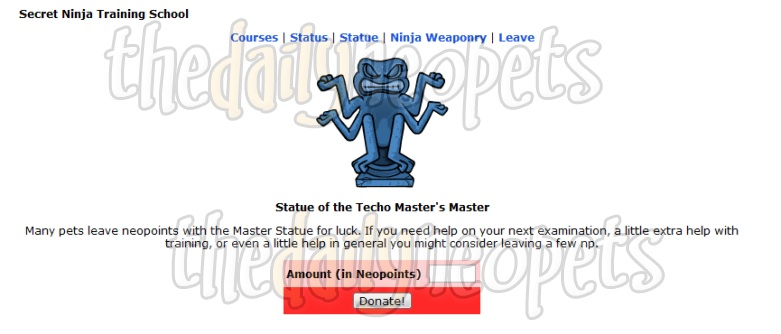 Statue of the Techo Master's Master