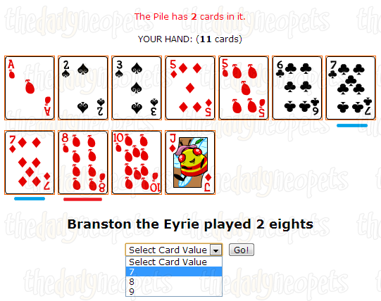 Value selection screenshot