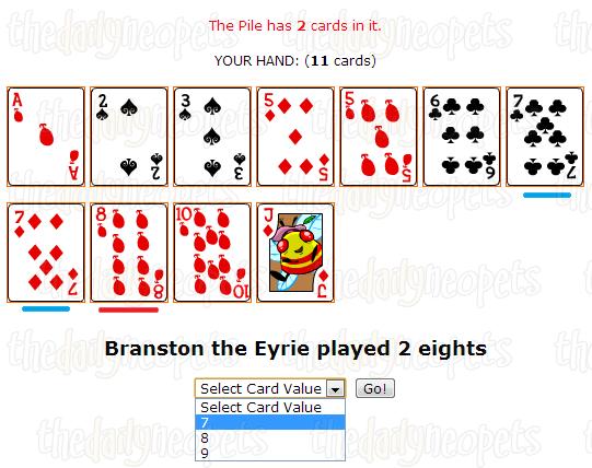 Value selection screenshot