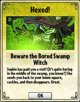 Beware the Bored Swamp Witch Card