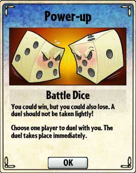 Battle Dice Card