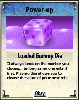 Loaded Gummy Dice Card