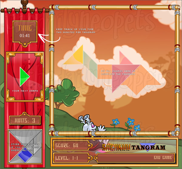 Shenkuu Tangram Game Screen