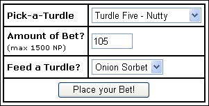 Turdle racing betting shop nhl playoffs betting system